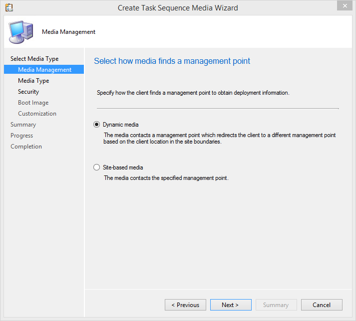 SCCM 2012R2 – Creating Task Sequence bootable Media – www