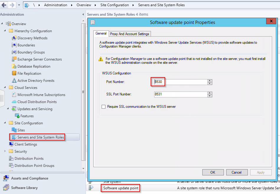 SCCM: How to Determine the Port Settings Used by WSUS? – www