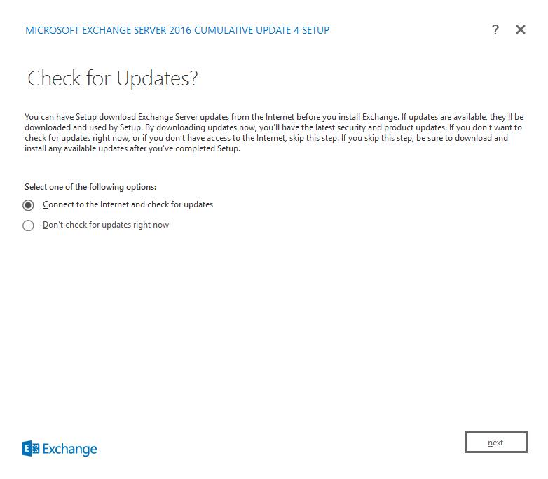 Installing Exchange Server 2016 on Windows Server 2016 – www