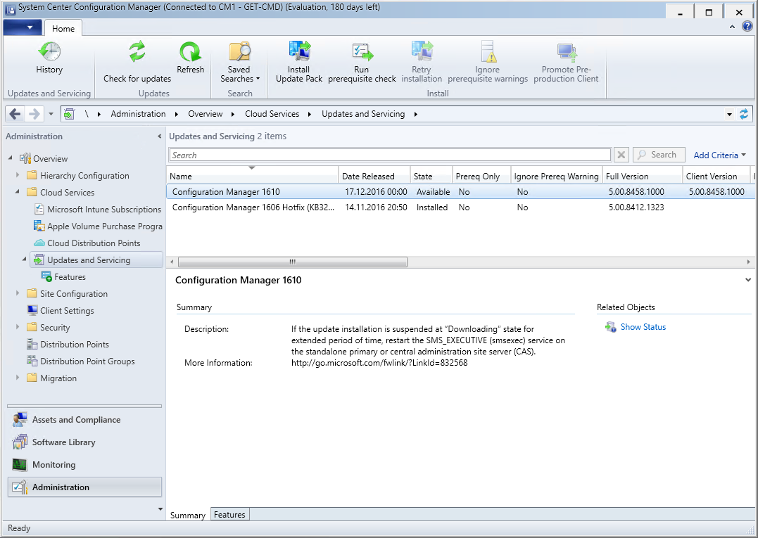 SCCM Current Branch 1610 Upgrade Guide – www get-cmd com