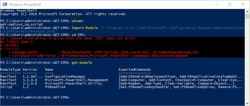 Running SCCM PowerShell Scripts as a Service Account – www get-cmd com