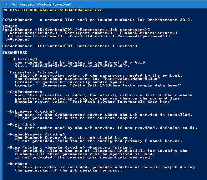 SCO: Start Runbooks from Command-Line – www get-cmd com