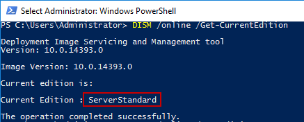 Upgrading Windows Server 2016 Standard to Datacenter edition