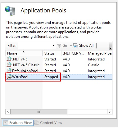 SCCM-The Request Failed with HTTP Status 503: Service